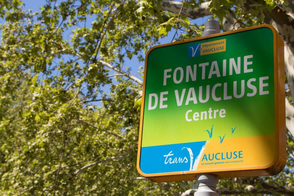 Busstop in Fontaine de Vaucluse