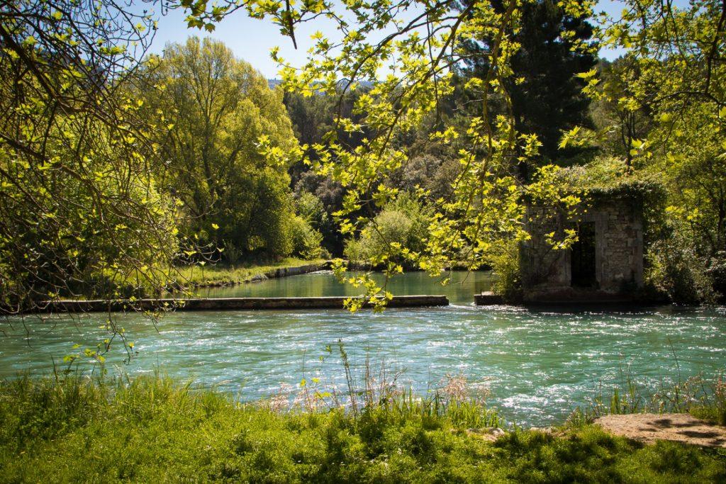 the Sorgue River at Fontaine de Vaucluse